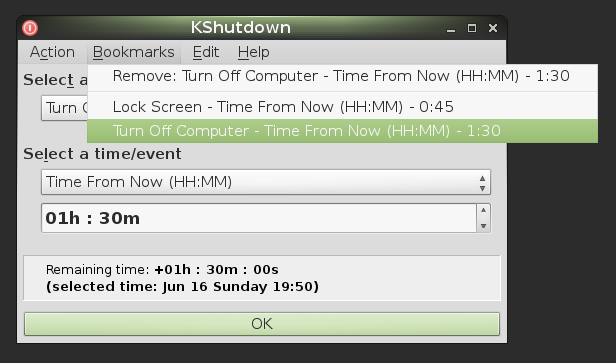 KShutdown / 3 0 Beta 8 - release notes - A graphical