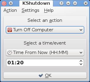 KShutdown Portable screenshot