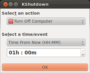 KShutdown 3.0 Beta (integration with GTK+)