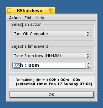 KShutdown 3.0 Beta (Haiku OS)