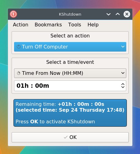 KShutdown / Home | A graphical shutdown utility for Linux and Windows