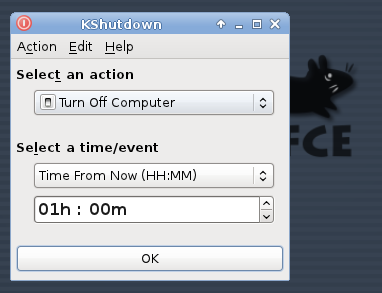 KShutdown 3.0 Beta (Xfce)